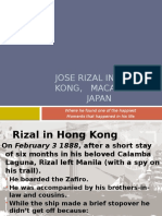 Jose Rizal in Hong Kong, Macao and Japan