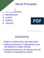 Major Moral Principles