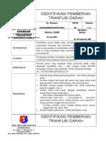 01 Spo-12 Identifikasi Pemberian Tranfusi Darah