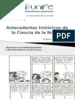 Antecedentes Historicos de La Ciencia de La Nutricion