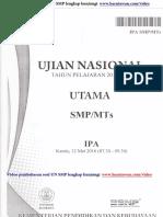 Download Soal UN IPA SMP 2016 Dan Pembahasan