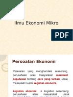 Ilmu Ekonomi Mikro