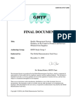GHTF-Quality Management System – Medical Devices – Guidance on the Control of Products and Services Obtained from Suppliers