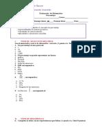 Evaluación  de Matemática porcentaje 7° diferenciada