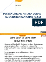 Perbandingan Antara Corak Sains Barat Dan Sains Islam