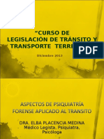 Aspectos de psiquiatría forense aplicado al transito Dra. Elba Pasencia..ppt
