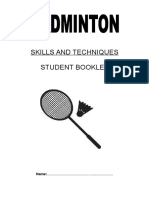 badminton student booklet