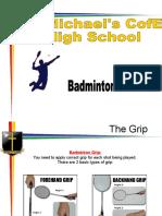 badminton shots book