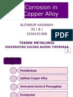 Corrosion in Copper