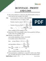 Percentage and profit