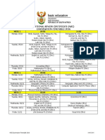 NSC 2016 Timetable