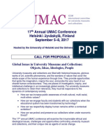 UMAC Conference 2017, Call for Proposals