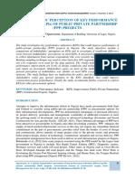 Kpi Assessment in Ppp in Nigeria
