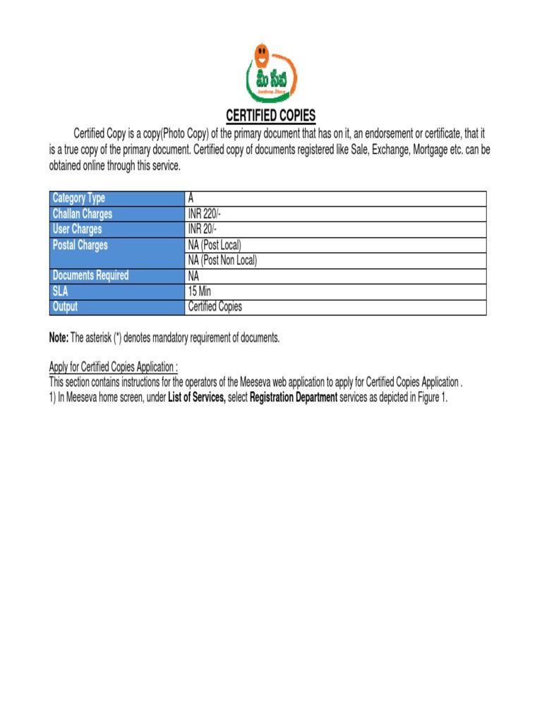 MEESEVA User Manual for KIOSKS Ver 1 4 MeeSeva End -4-Certified