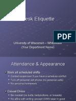 Frontdesk Etiquette