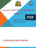 Parametros de Voladura de Bancos