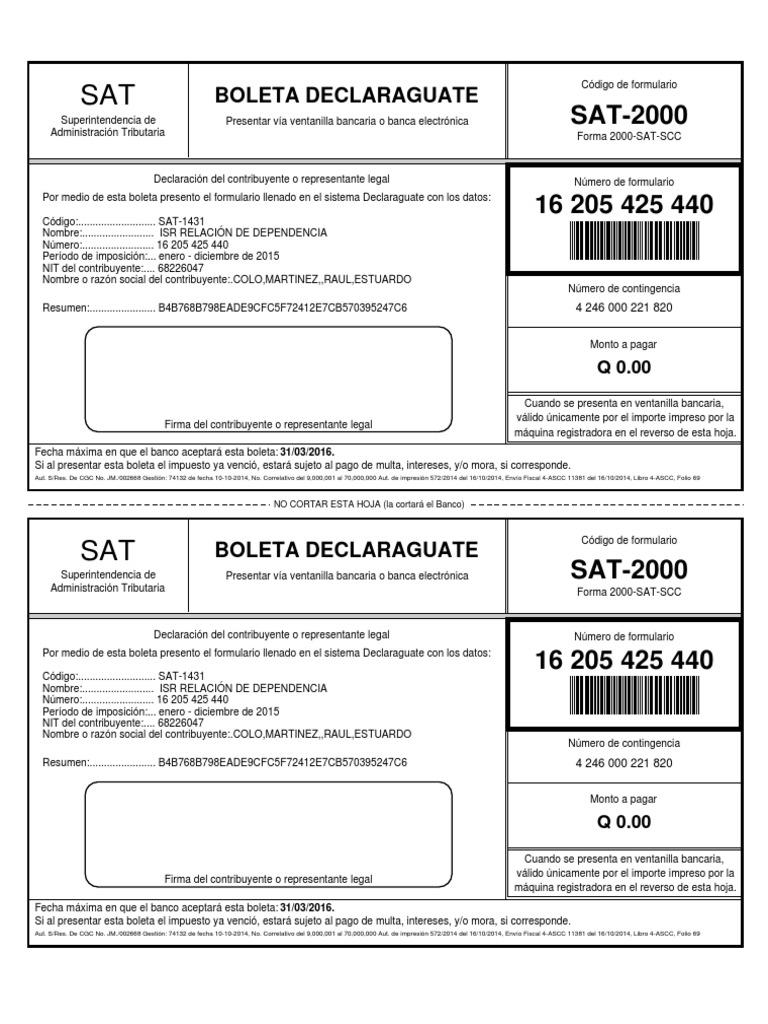 formulario sat 820