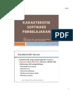 Karakteristik Software Pembelajaran 2015sm