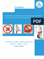 Legal Aspects of Substance and Alcohol Abuse in Ethiopia 2011