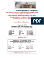 Henderson County Early Voting Locations