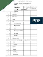 Cek List Capaian Kinerja Program