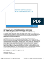 EMC Smarts Server Manager Installation and Implementation