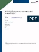 CPC 100 AppNote Stator Core Testing on Rotating Machines ENU