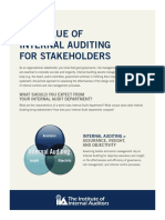 The Value of Internal Auditing for Stakeholders