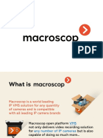Macroscop General Presentation (Advantages, Modules, 2.1, Projects)