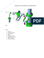 What Are the Inputs Required for Stress Analysis of a Piping System