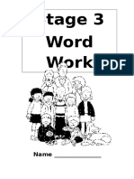 Stage 3 Word Work