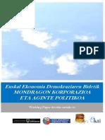 Euskal Ekonomia Demokraziaren Bidetik. MONDRAGON KORPORAZIOA ETA AGINTE POLITIKOA