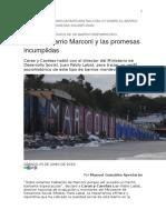 Caras y Caretas - Perfil Sociológico de Un Barrio Empobrecido. Marconi y Las Promesas Incumplidas