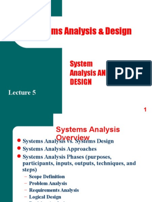 Scope Definition System Design