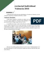 Crónica Ronda 2 Valencia