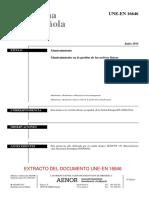 Extracto norma en español UNE 16646
