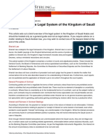 Introduction to the Legal System of the Kingdom of Saudi Arabia