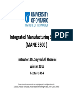 14 Integrated Manufacturing Systems Lecture #14 Slides