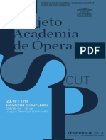 Programa de Sala   Academia de Ópera   Outubro