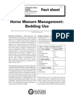 Horse Manure Bedding Use