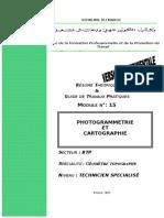 M15 - Photogrammétrie Et Cartographie BTP-TSGT