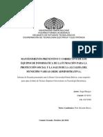 MANTENIMIENTO PREVENTIVO Y CORRECTIVO DE LOS EQUIPOS DE INFORMATICA DE LA FUNDACIÓN PARA LA PROTECCIÓN SOCIAL