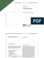 Abellan - Estudio Preliminar en Escritos Politicos Alianza Madrid 2008