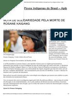 Nota de Solidariedade Pela Morte de Rosane Kaigang _ Articulação Dos Povos Indígenas Do Brasil – Apib
