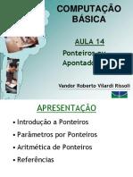 Aula 14 CB 2016-2 Ponteiros