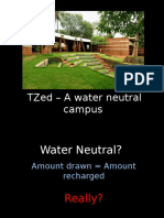 TZed - A Water Neutral Campus