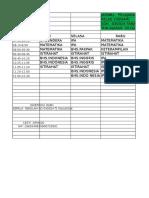 Jadwal Pelajaran Kelas Vi