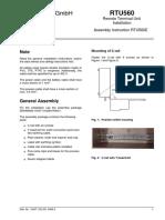 Assembly Instructions RTU560E