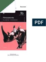Ionesco Rinoceronte
