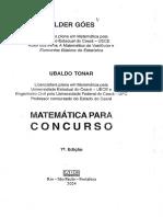 Hílder Goes e Ubaldo Tonar   Matemática para Concurso   7º Edição   Ano 2004.pdf